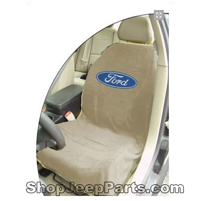 Seat Towel with Ford Logo Tan