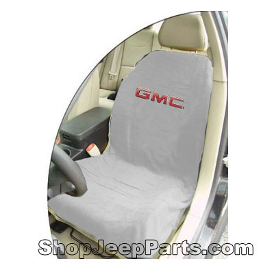 Seat Towel with GMC Logo Grey
