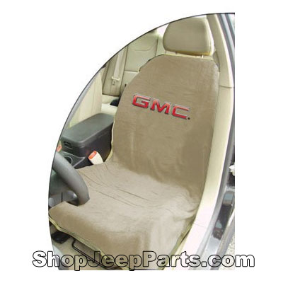 Seat Towel with GMC Logo Tan