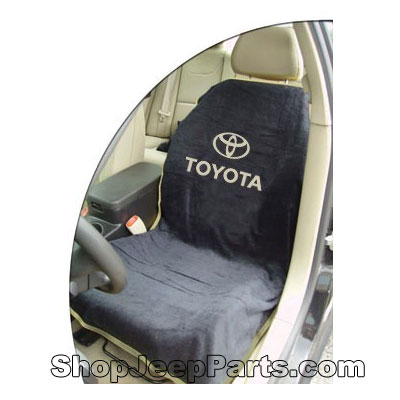 Seat Towel with Toyota Logo Black