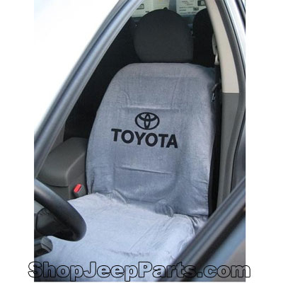 seatarmour sa100toyg seat towel with toyota logo grey. Black Bedroom Furniture Sets. Home Design Ideas