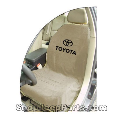 Seat Towel with Toyota Logo Tan