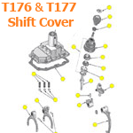 T176 and T177 Shifter Cover Parts