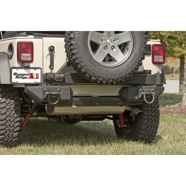 Front Aluminum XHD Bumper Rear Pods Tire Carrier and Winch