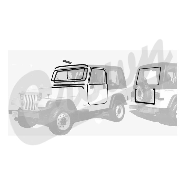 Windshield Frame and Parts for Jeep Wrangler :: ShopJeepParts.com