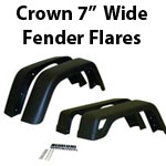 "Crown 7"" Wide Fender Flares"