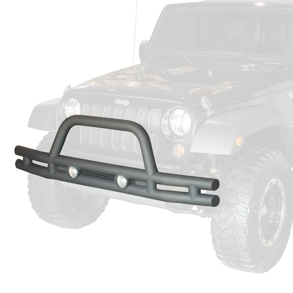 Jeep JK Wrangler Front Tube Bumper Textured Black