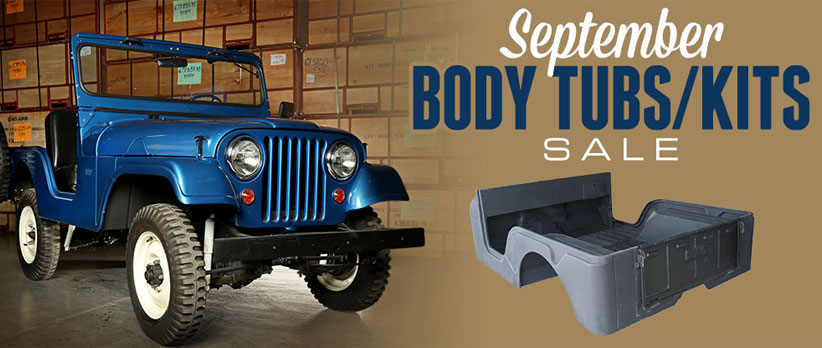 Jeep Body Tub Specials