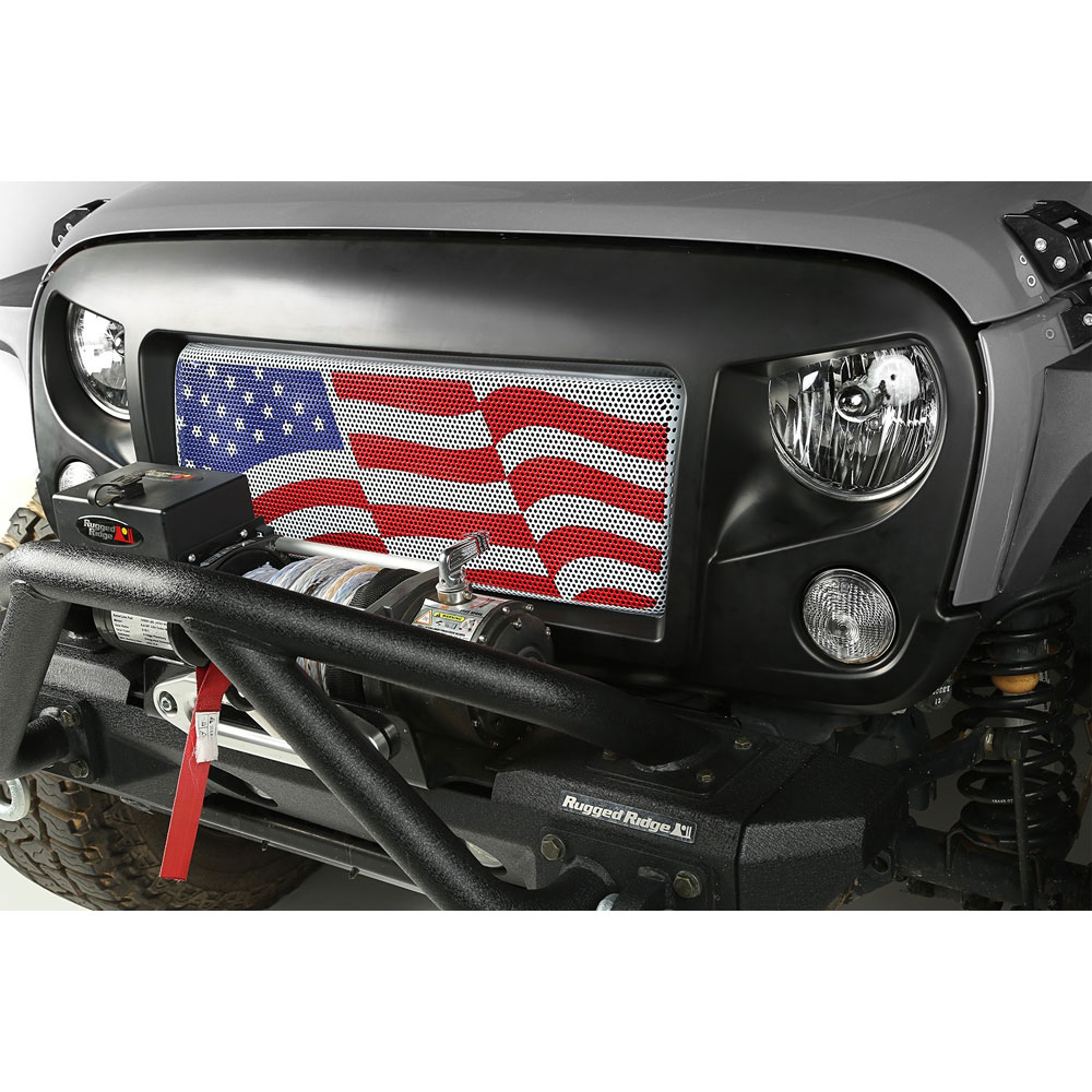 Spartan Grille with American Flag Insert, 07-16 Wranglers JK