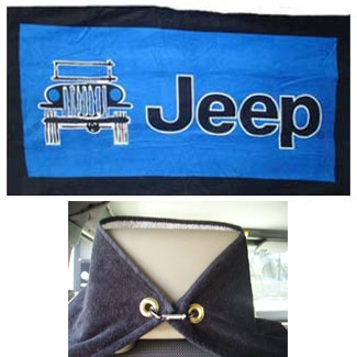 Jeep Logo Towel 2 Go Seat Towel Blue