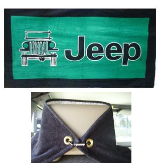 Jeep Logo Towel 2 Go Seat Towel Green