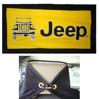 Jeep Logo Towel 2 Go Seat Towel Yellow