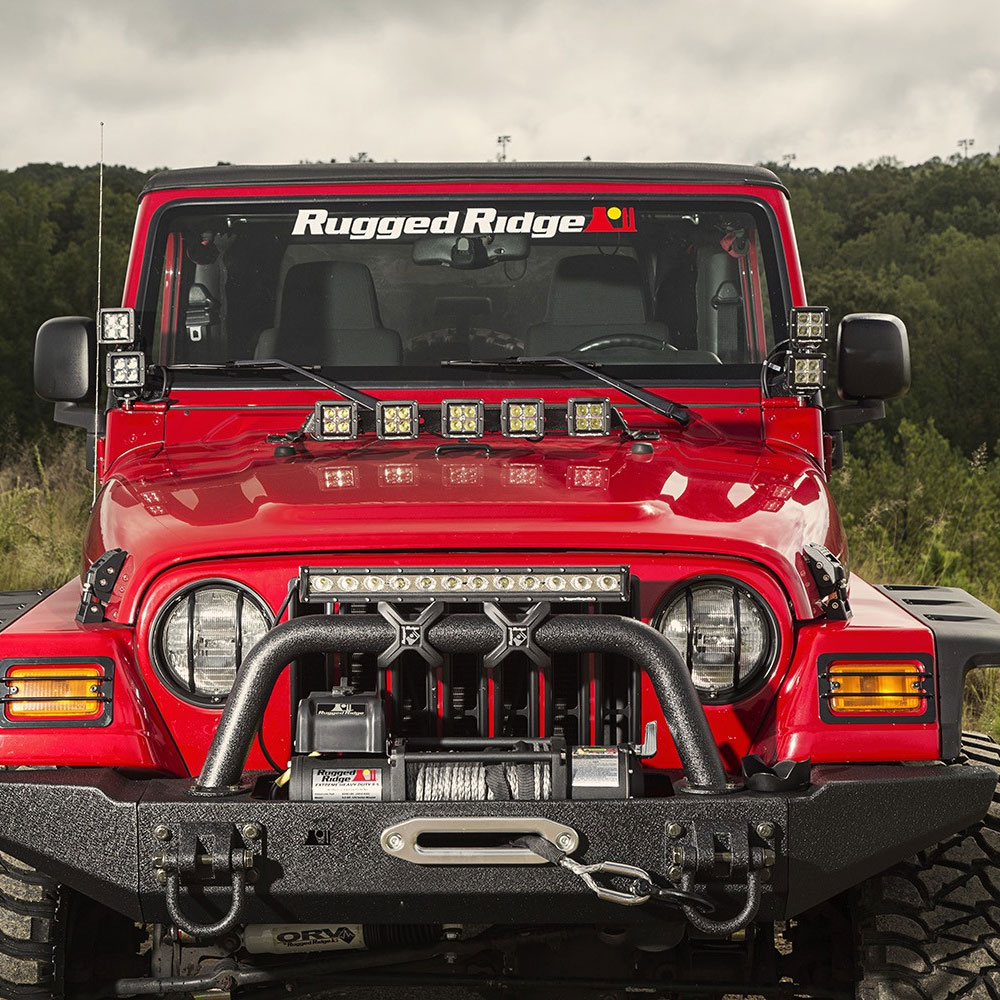 Rugged Ridge Hood Light Bars