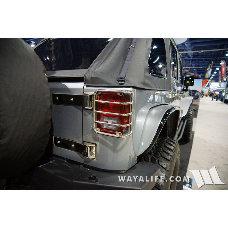 Tail Lamp Guards, Stainless, 07-18 Wranglers JK